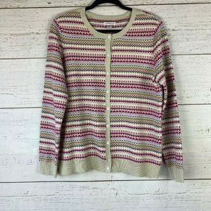 Croft and Barrow Womens L Cardigan Sweater